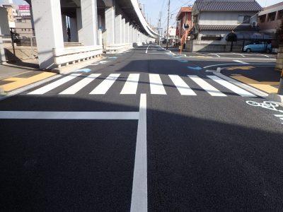 自転車通行空間整備工事(福山駅旭町線・30-1) / 2019-02-28