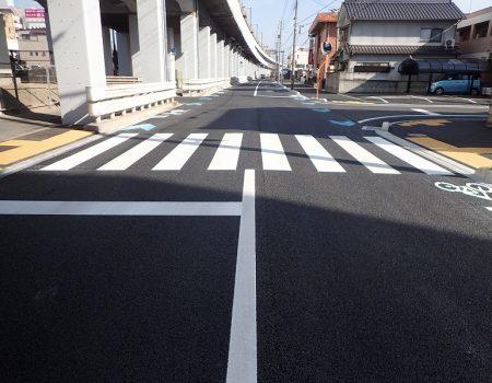 自転車通行空間整備工事(福山駅旭町線・30-1)/2019-02-28